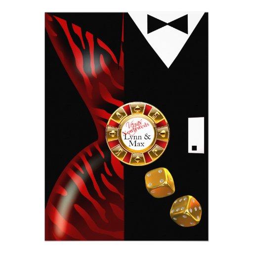 Las Vegas Art Deco Wedding Reception | red zebra Personalized Invites