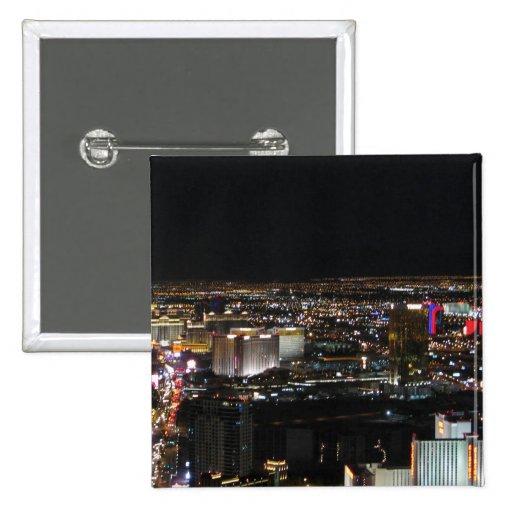 Las Vegas at Night 2 Inch Square Button