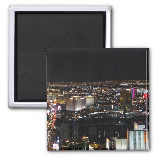 Las Vegas at Night 2 Inch Square Magnet