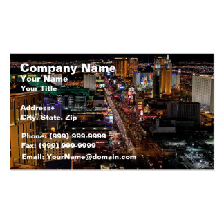 Las Vegas at Night Double-Sided Standard Business Cards (Pack Of 100)