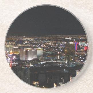 Las Vegas at Night Drink Coaster
