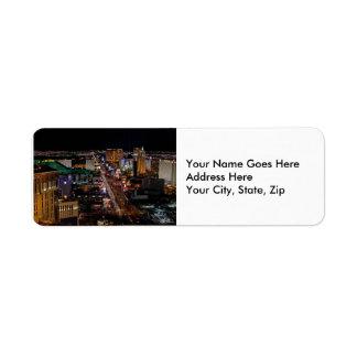 Las Vegas at Night Custom Return Address Labels