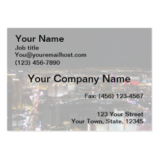 Las Vegas at Night Large Business Cards (Pack Of 100)