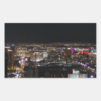 Las Vegas at Night Rectangular Sticker