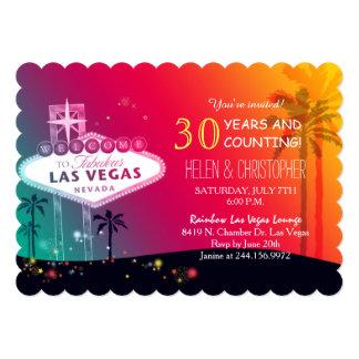 """Las Vegas atractivo que casa a la fiesta de Invitación 5"""" X 7"""""""