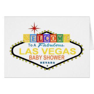 Las Vegas Baby Blocks Baby Shower Card