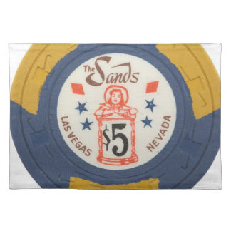 Las Vegas Baby! Poker Chips Casino Night Gambling Cloth Place Mat