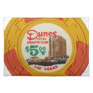 Las Vegas Baby! Poker Chips Casino Night Gambling Cloth Placemat