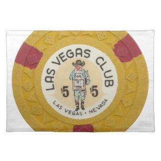 Las Vegas Baby! Poker Chips Casino Night Gambling Placemat