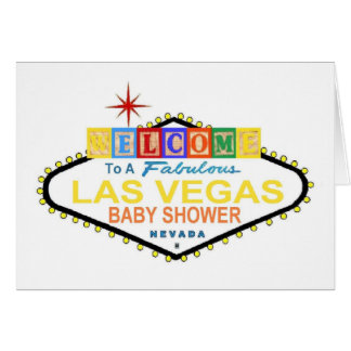 Las Vegas Baby Shower Blocks Card