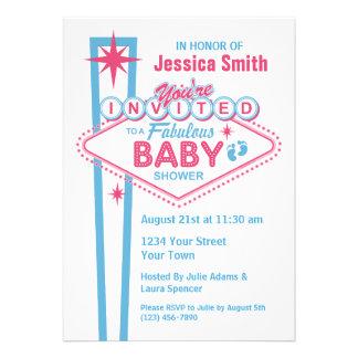 Las Vegas Baby Shower Invitations