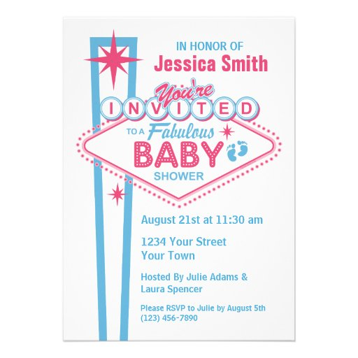 las vegas baby shower invitations 5 x 7 invitation card zazzle