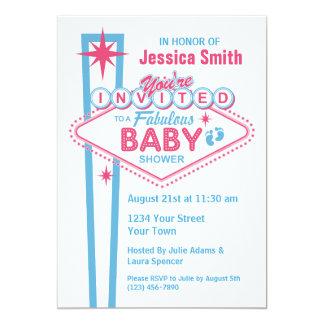 "Las Vegas Baby Shower Invitations 5"" X 7"" Invitation Card"