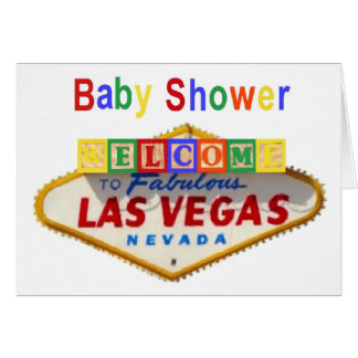 Las Vegas Baby Shower Invitations Greeting Card