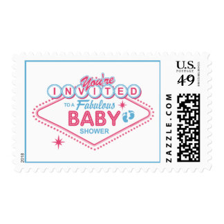 Las Vegas Baby Shower Postage
