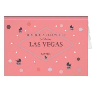 Las Vegas Baby Shower (Stroller) Card
