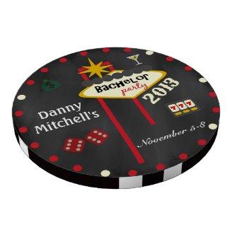 Las Vegas Bachelor Party 2013 Keepsake Poker Chip Poker Chip Set