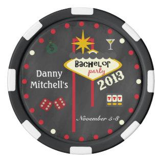 Las Vegas Bachelor Party 2013  Keepsake Poker Chip Poker Chips Set at Zazzle