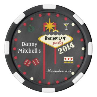 Las Vegas Bachelor Party 2014  Keepsake Poker Chip Poker Chip Set