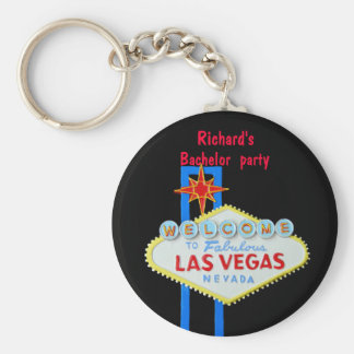 Las Vegas Bachelor Party Basic Round Button Keychain