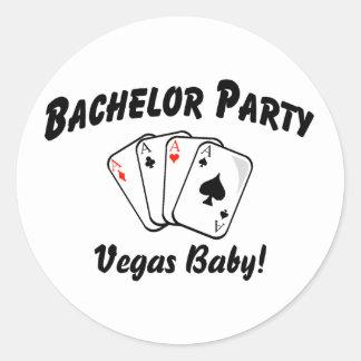 Las Vegas Bachelor Party Classic Round Sticker