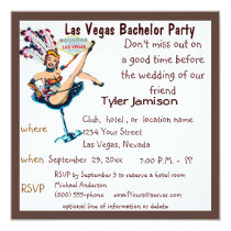 Las Vegas Bachelor Party Showgirl Card
