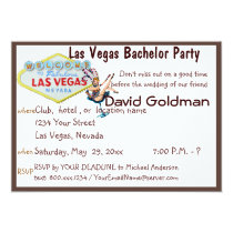 Las Vegas Bachelor Party with Casino Showgirl Card
