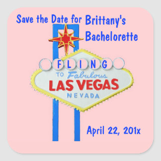 Las Vegas Bachelorette Fling Pink Sticker