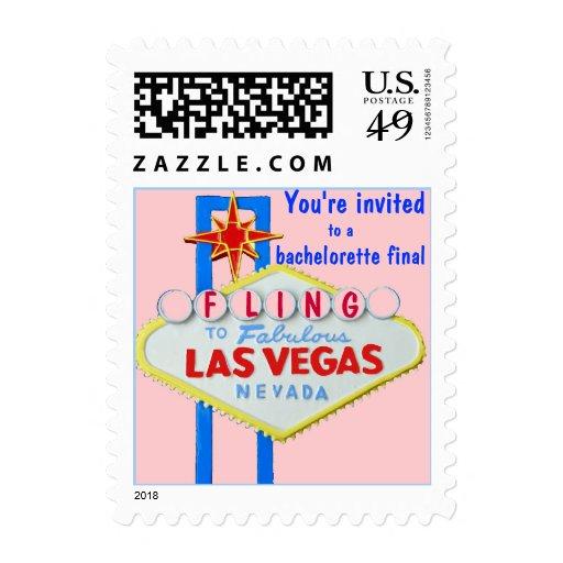 Las Vegas Bachelorette Girly Pink Sign Stamp