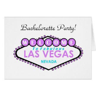 Las Vegas Bachelorette Party Card