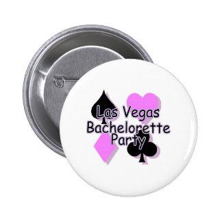 Las Vegas Bachelorette Party Card Suits Button