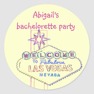 Las Vegas Bachelorette Party Classic Round Sticker
