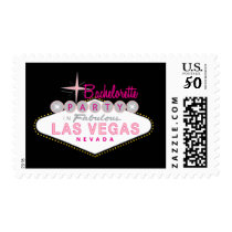 Las Vegas Bachelorette Party Custom Postage Stamp