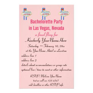 Las Vegas Bachelorette Party Flyer Invitation Stationery