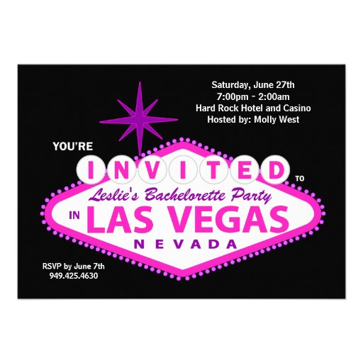 Las Vegas Bachelorette Party Invitation