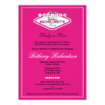 "Las Vegas Bachelorette Party Invitation - Hot Pink 5"" X 7"" Invitation Card"