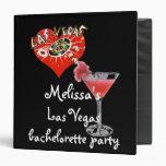 Las Vegas Bachelorette Party photo album 3 Ring Binders