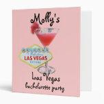 Las Vegas Bachelorette Party Photo Album Vinyl Binder