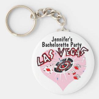 Las Vegas Bachelorette Party Pink Keychain