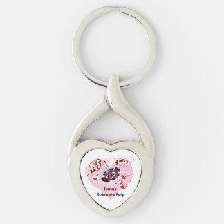 Las Vegas Bachelorette Party pink personalized Keychain