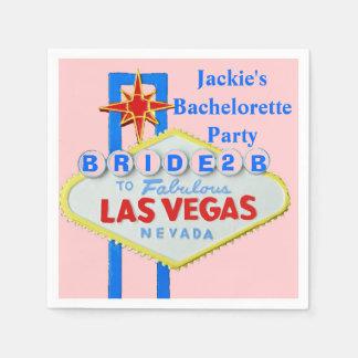 Las Vegas Bachelorette Party Pink Standard Cocktail Napkin