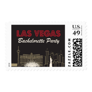 Las Vegas Bachelorette Party Postage Stamp