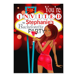 Las Vegas Bachelorette Party red Card