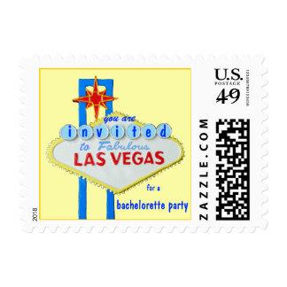 Las Vegas Bachelorette Pastel Yellow Postage