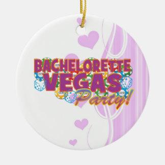 Las Vegas bachelorette wedding bridal shower party Ceramic Ornament