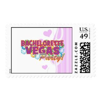Las Vegas bachelorette wedding bridal shower party Postage Stamps