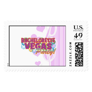 Las Vegas bachelorette wedding bridal shower party Postage Stamp