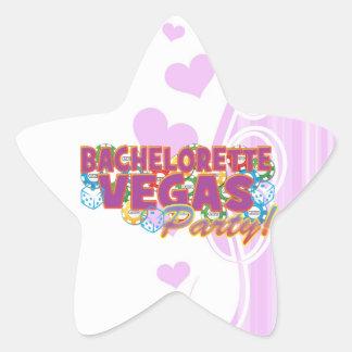 Las Vegas bachelorette wedding bridal shower party Star Sticker