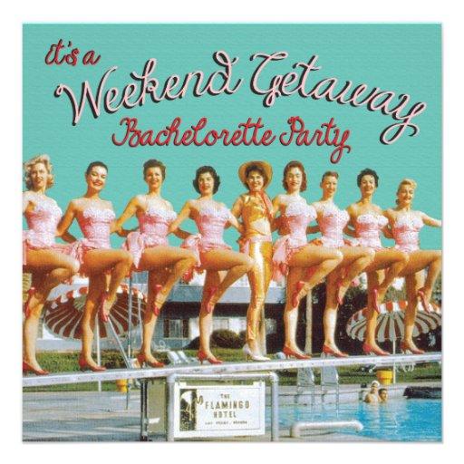 Bachelorette Getaway Ideas: Las Vegas Bachelorette Weekend Getaway Invitations 5.25