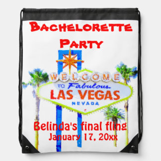 Las Vegas Bachelorette Welcome Sign Drawstring Bag